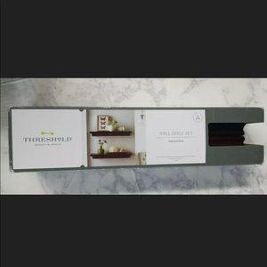 Threshold Quality Design Brown Shelf Set 2x NWT